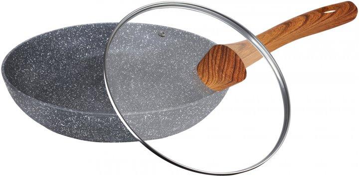 Сковорода Maxmark Marbel с крышкой 28 см (MK-FP4528M) - изображение 1