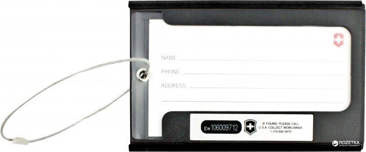 Бирка для багажа Victorinox Travel Travel Accessories 4.0 Black (Vt313705.01)