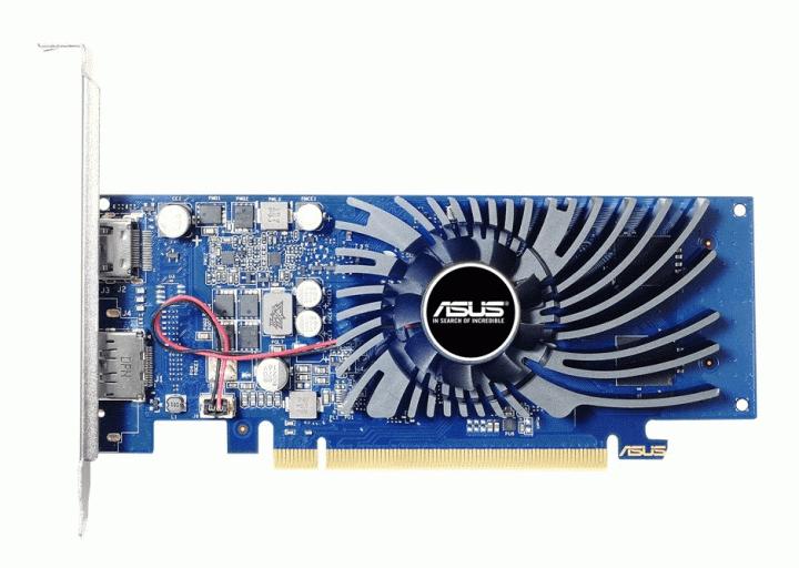 Asus PCI-Ex GeForce GT 1030 Low Profile 2GB GDDR5 (64Bit) (1228/6008) (DisplayPort, HDMI) (GT1030-2G-BRK) - зображення 1