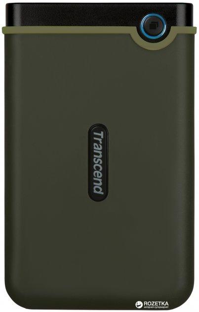 """Жорсткий диск Transcend StoreJet 25M3G 2TB TS2TSJ25M3G 2.5"""" USB 3.1 Gen1 External Military Green - зображення 1"""
