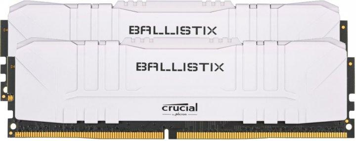 Оперативна пам'ять Crucial DDR4-2666 16384MB PC4-21300 (Kit of 2x8192) Ballistix White (BL2K8G26C16U4W) - зображення 1