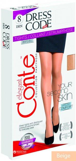 Колготки Conte Dress Code 8 Den 4 р Beige (4810226142547) - изображение 1