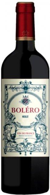Вино Bolero Merlot красное сухое 0.75 л 12.5% (3423290075911) - изображение 1