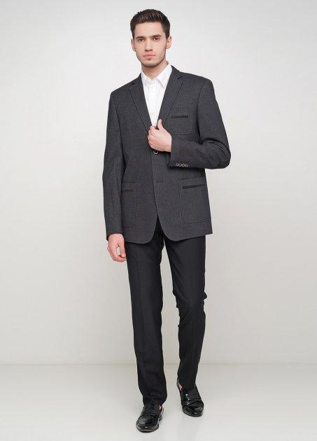 Чоловічий піджак Mia-Style MIA-287/01 48 чорний - зображення 1