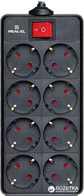 Сетевой удлинитель Real-El RS-8 Protect 1.8 м Black (EL122300021) - изображение 1