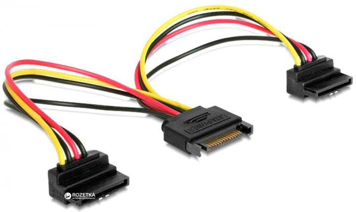 Кабель Cablexpert CC-SATAM2F-02 SATA 0.15 м (CC-SATAM2F-02) - изображение 1