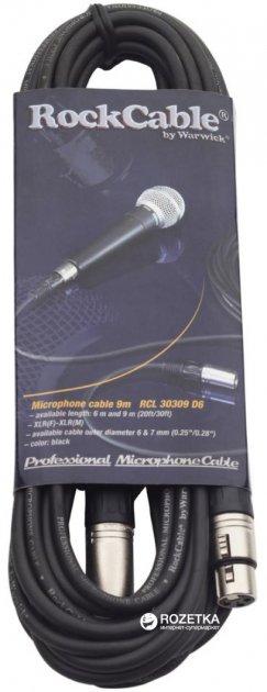 Мікрофонний кабель RockCable RCL30309 D6 9 м Black (RCL30309 D6) - зображення 1