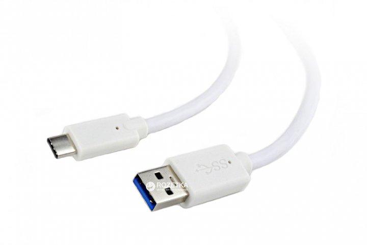 Кабель Cablexpert USB 3.0 - USB Type-C 1 м (CCP-USB3-AMCM-1M-W) - зображення 1