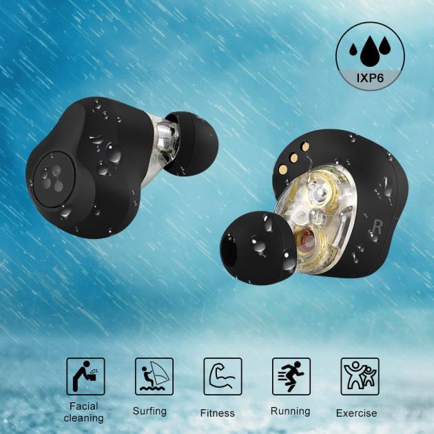 Бездротові двухдрайверные TWS навушники Syllable S115 Bluetooth 5.0 aptX - зображення 1