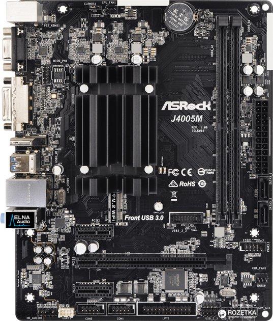 Материнська плата ASRock J4005M (Intel Celeron J4005, SoC, PCI-Ex16) - зображення 1