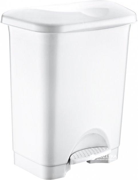 Відро для сміття Irak Plastik Stella з педаллю 45 л Біле (4569kmd) - зображення 1
