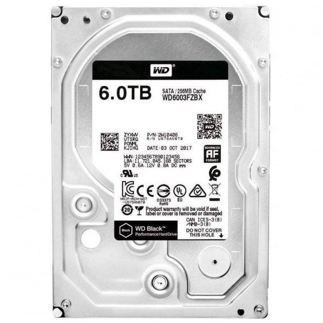 "Жорстку диск 3.5"" 6TB Western Digital (WD6003FZBX) - зображення 1"
