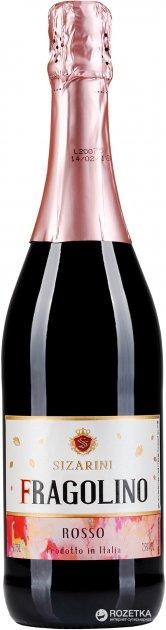 Вино игристое Sizarini Fragolino красное сладкое 0.75 л 7.5% (8001592004423) - изображение 1