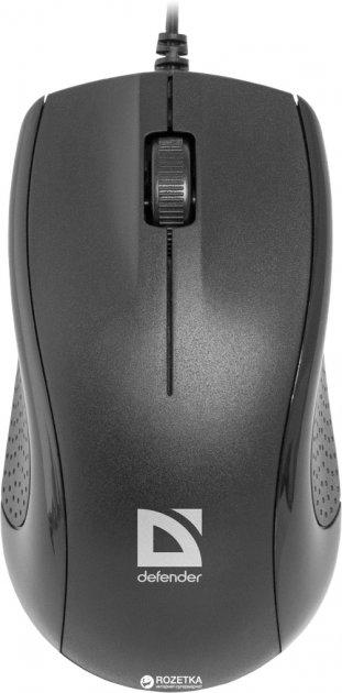 Миша Defender Optimum MB-160 USB Black (52160) - зображення 1