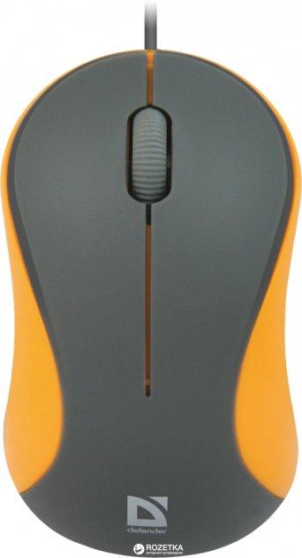 Миша Defender Accura MS-970 USB Gray/Orange (52971) - зображення 1