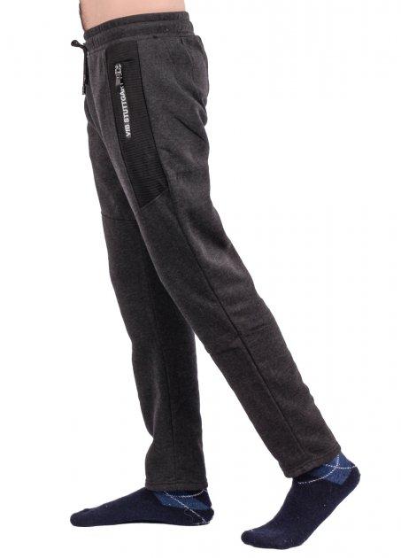 Штаны спортивные мужские на флисе Fashion WK9656A-2. Размер M - изображение 1