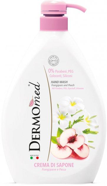 Крем-мыло жидкое DermoMed Плюмерия и персик 1000 мл (8032680390791) - изображение 1