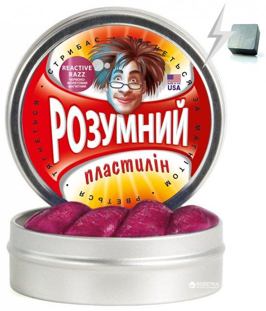 Умный пластилин Thinking Putty Reactive Razz Красно-фиолетовый магнитный (ti16004) (8594164760457) - изображение 1