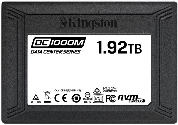 "Kingston DC1000M 1920GB 2.5"" PCIe 3.0 x4 3D NAND TLC (SEDC1000M/1920G) - зображення 1"
