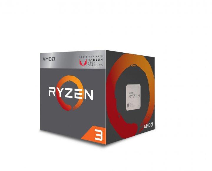 Процесор AMD (AM4) Ryzen 3 2200G, Box, 4x3,5 GHz (Turbo Boost 3,7 GHz), Radeon Vega 8 (1100 MHz), L3 4Mb, Raven Ridge - зображення 1