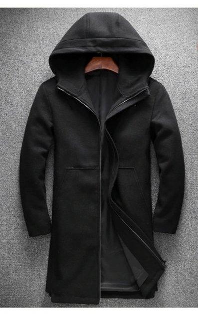 Пальто Chernyy Kot 2001-BL Черный XL - изображение 1