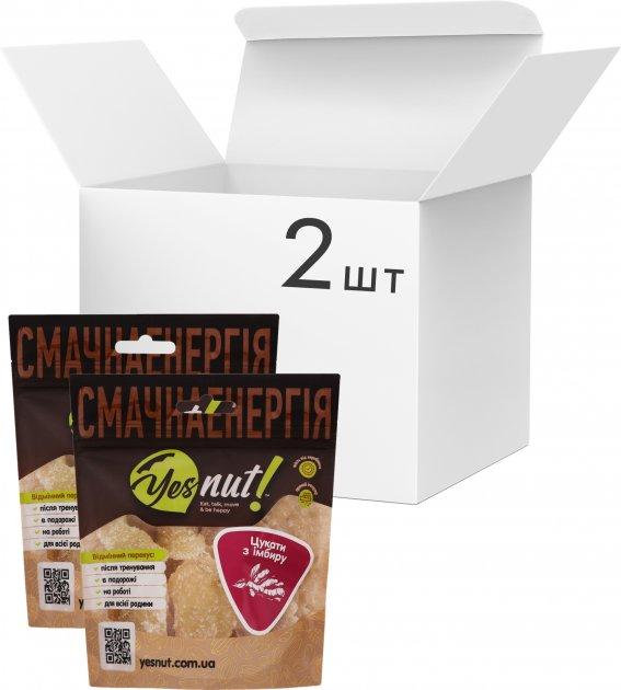 Упаковка цукатів з імбиру Yesnut! 100 г х 2 шт (9979473698841) - зображення 1