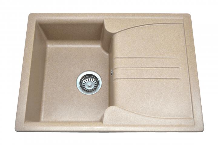 Кухонная мойка AQUAMARIN SPLIT 68-50 DSN Темный песок - изображение 1