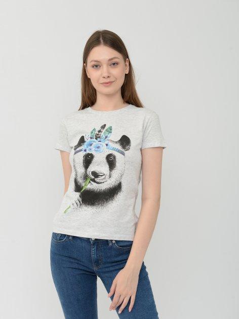 Футболка Sol's Regent Women Panda 01825300/62 L Світло-сіра (3609374900458) - зображення 1