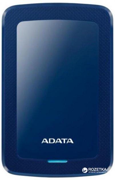 Жорсткий диск ADATA DashDrive HV300 2TB AHV300-2TU31-CBL 2.5 USB 3.1 External Slim Blue - зображення 1