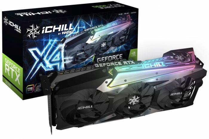 Відеокарта INNO3D RTX3090 ichill RTX3090 X4-24G GPU - зображення 1