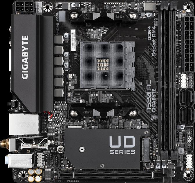 Материнська плата Gigabyte A520I AC (sAM4, AMD A520, PCI-Ex16) - зображення 1