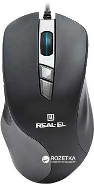 Мышь Real-El RM-780 RGB USB Black/Grey (EL123200023) - изображение 1
