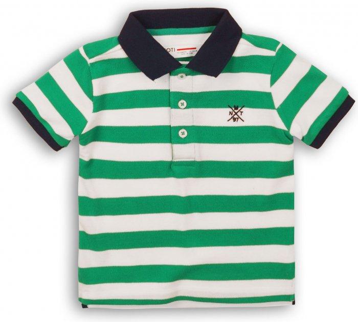 Поло Minoti 1Polost 3 13071 146-152 см Зеленое с белым (5059030307998) - изображение 1