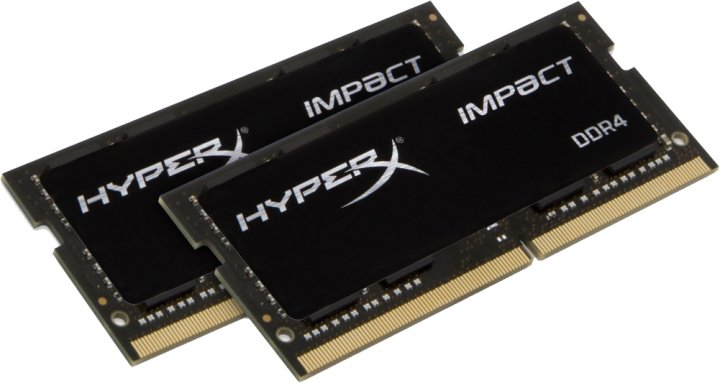 Оперативна пам'ять HyperX SODIMM DDR4-2666 32768MB PC4-21300 (Kit of 2x16384) Impact (HX426S15IB2K2/32) - зображення 1