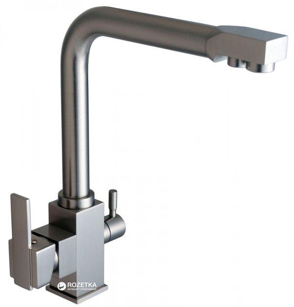 Кухонний змішувач з підключенням до фільтру GLOBUS LUX GLLR-0100-8-StSTEEL - зображення 1