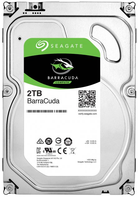 Жесткий диск Seagate BarraCuda HDD 2TB 7200rpm 256MB ST2000DM008 3.5 SATA III - изображение 1