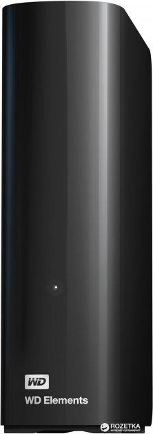 """Жесткий диск Western Digital Elements Desktop 6TB WDBWLG0060HBK-EESN 3.5"""" USB 3.0 External Black - изображение 1"""