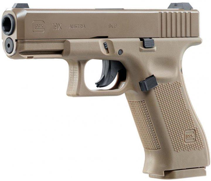 Пневматичний пістолет Umarex GLOCK 19 X FDE 4.5 мм (5.8368) - зображення 1