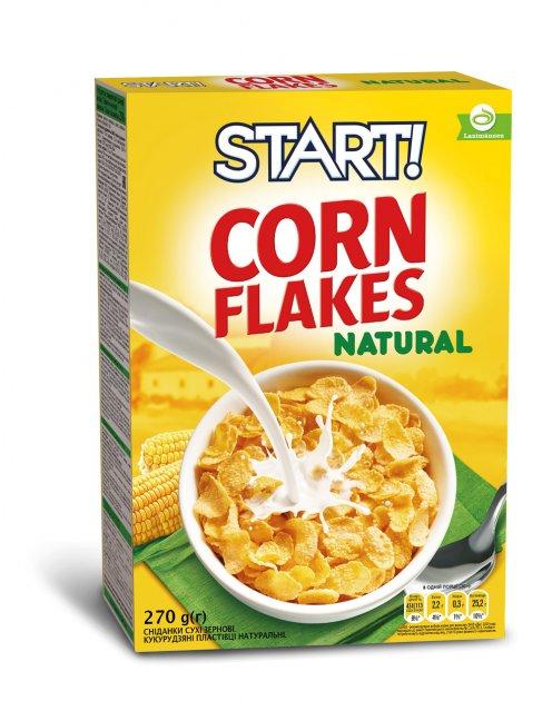 Кукурузные хлопья Start натуральные 270 г (4820008125040) - изображение 1
