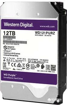Жесткий диск Western Digital Purple 12TB 256MB 7200rpm WD121PURZ 3.5 SATA III - изображение 1