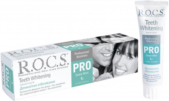 Зубная паста R.O.C.S. Pro Деликатное отбеливание Sweet Mint 135 г (4607034472184) - изображение 1