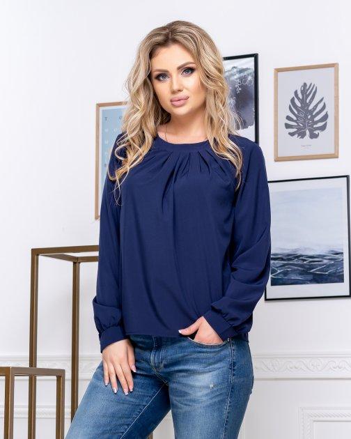 Блузка ELFBERG 5174 56 Темно-синя (2000000375724) - зображення 1
