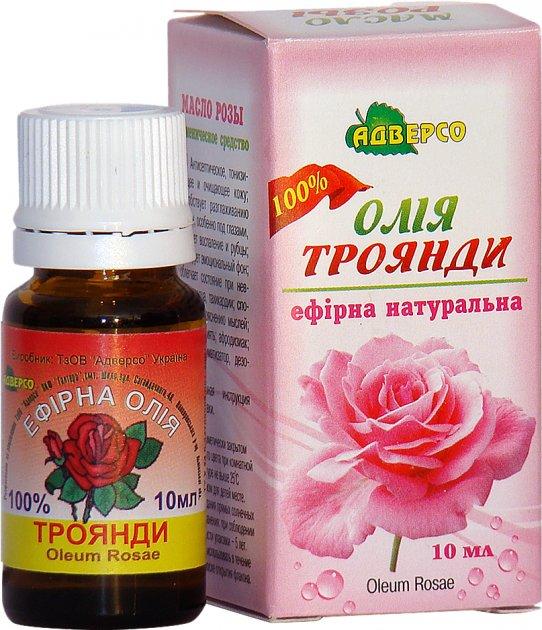 Масло эфирное Адверсо Розовое 100% 10 мл (4820104012749) - изображение 1