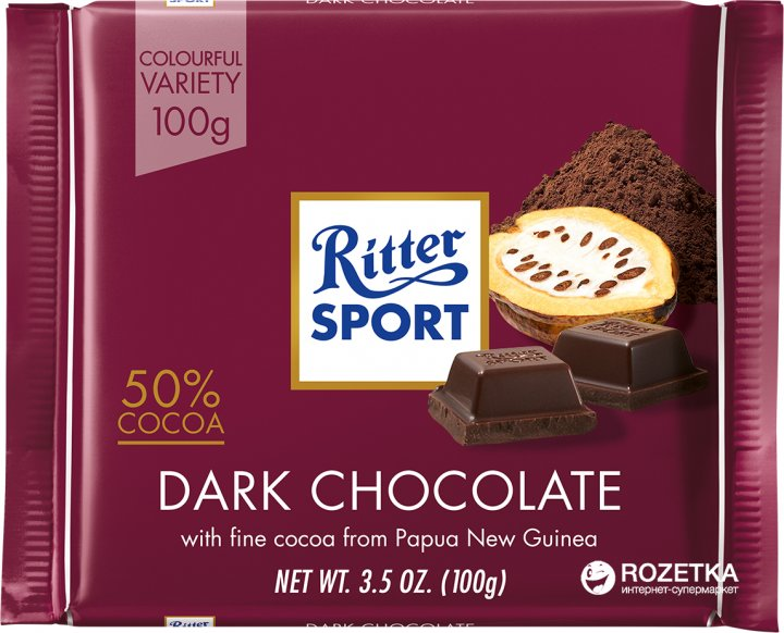 Темный шоколад Ritter Sport 100 г (4000417020000) - изображение 1