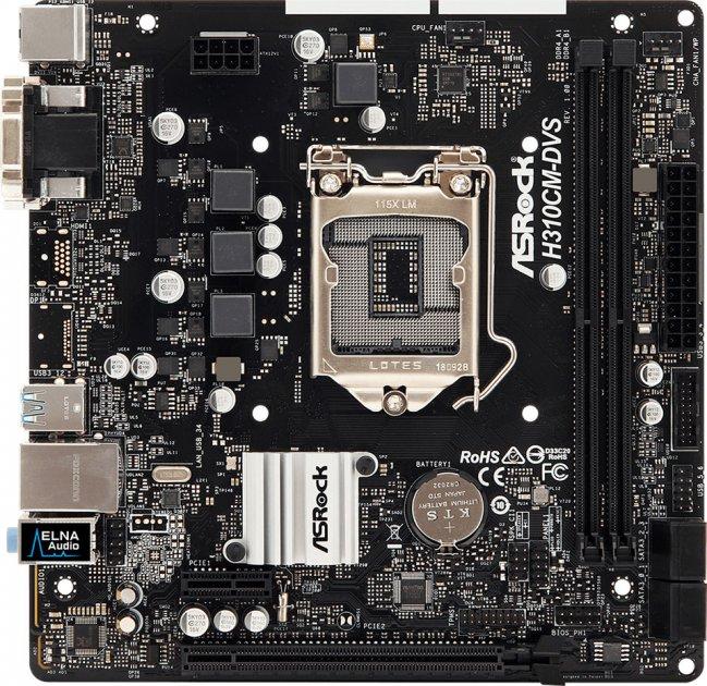 Материнська плата ASRock H310CM-DVS (s1151, Intel H310, PCI-Ex16) - зображення 1