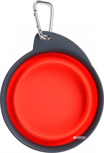 Дорожні складна миска для собак Dexas Collapsible / Expandable Travel Cup - 2 велика 480 мл Червона (dx30667) - зображення 1