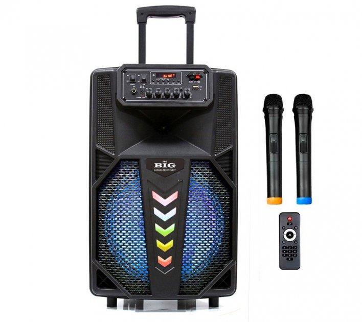 Автономная активная акустическая система BIG 240STAR два радио микрофона, караоке - изображение 1