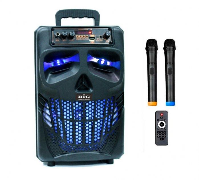 Автономная активная акустическая система BIG 120HALLOWEN два радио микрофона, караоке - изображение 1