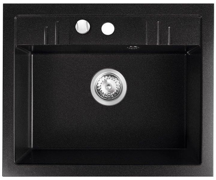 Кухонна мийка FERRO MEZZO II DRGM1/48/58BA - зображення 1