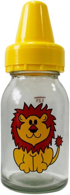 Комплект для кормления Киевгума Классик Лев 125 мл с соской (стекло, желтая бутылка) (3924100000) (4823060810688) - изображение 1